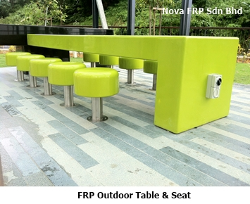 frp out table and seat